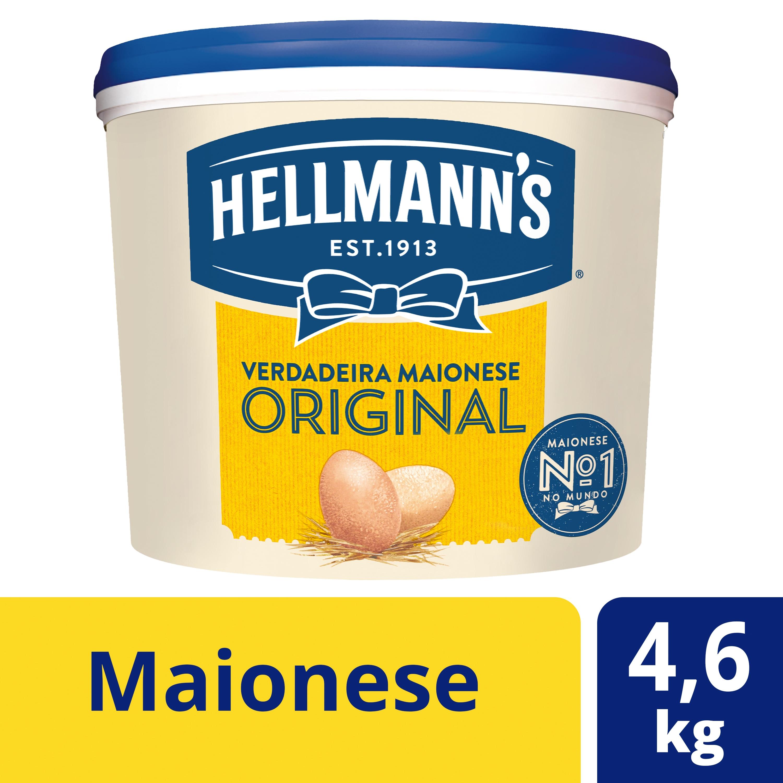 Hellmann's Maionese 4,6Kg - Hellmann's é a maionese 100% genuína, 100% de confiança.