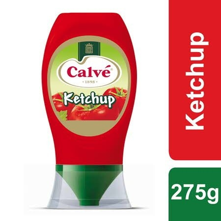 Calvé Ketchup Pure Top Down 275 Gr -