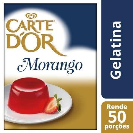 Carte D'Or Gelatina animal desidratada Morango 850Gr -