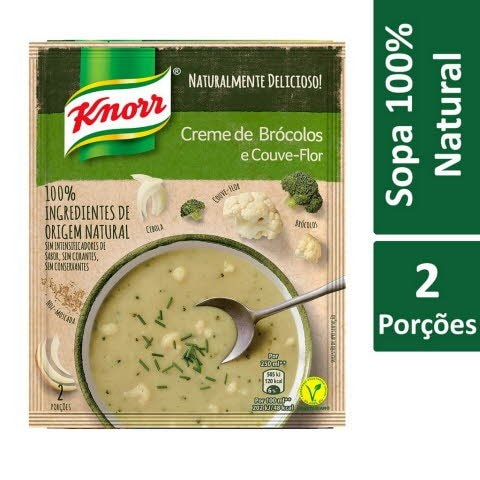 Knorr Creme de Brócolos e Couve-Flor -